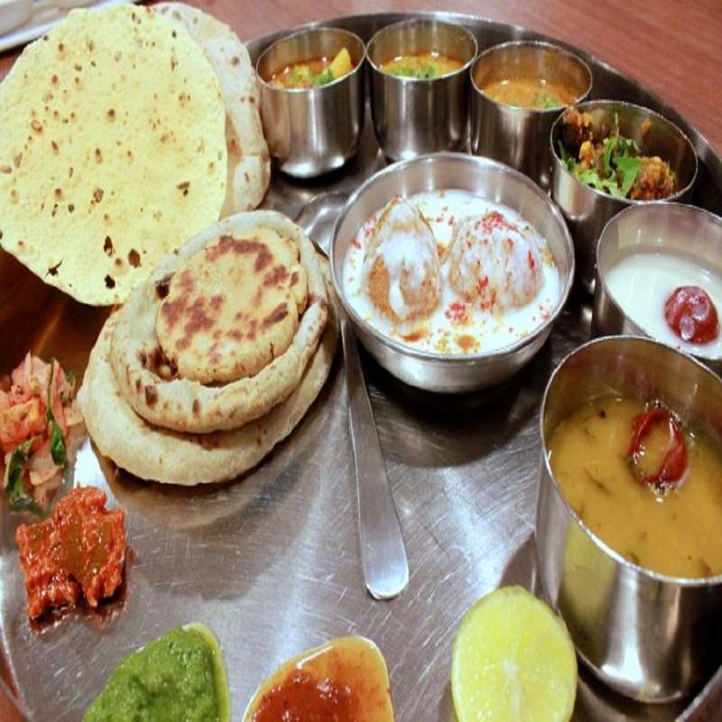 Pure Maharashtrian Thali in Maharashtrian Way/Style